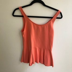 EXPRESS coral peplum blouse. Size Small